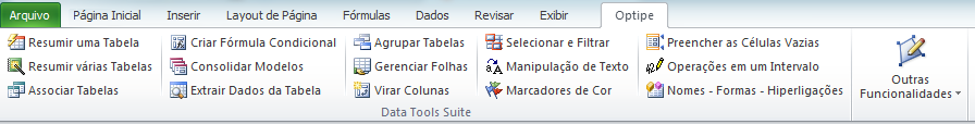 Optipe Data Tools Suite Menu