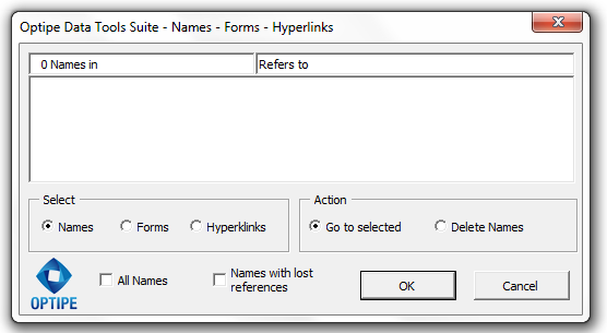 Names Forms Hyperlinks