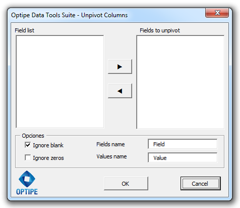 Data Tools Suite Unpivot Columns