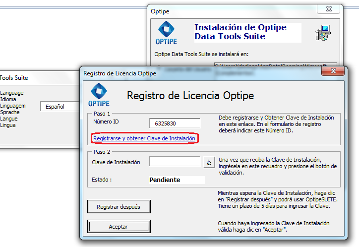 Instalación Add-ins Optipe